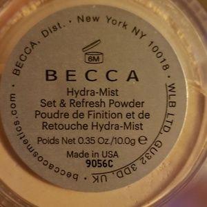 BECCA Makeup - Becca Hydra-Mist Set & Refresh Powder .35oz